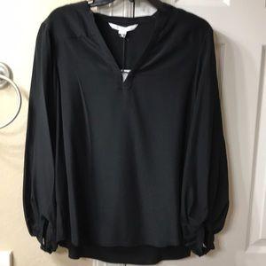NWT DVF Tanyana Clean Top 12 Black Silk